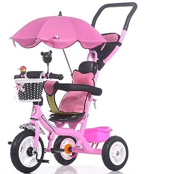 ZXUE Triciclo para Niños Bicicleta para Niños de 1 a 5 Años Carrito para Bebés Bebé para Bebés Bicicleta para Bebés y Niños (Color : Pink): Amazon.es: Hogar