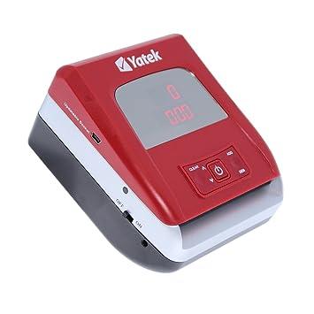 Detector de billetes falsos Euro actualizable y portable de Yatek SE-0706B con batería y cable de actualización de regalo: Amazon.es: Oficina y papelería