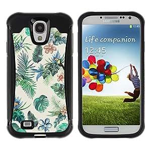 "Hypernova Defender Series TPU protection Cas Case Coque pour Samsung Galaxy S4 IV I9500 [Pintura de Aves Selva colorido""]"