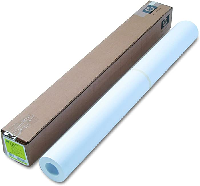"HP C1861A Designjet Bright White Inkjet Paper, 4 mil, 36"" x 150 ft, White"