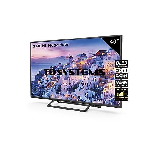 Televisor Led 40 Pulgadas Full HD TD Systems K40DLX9F Resolución 1920 x 1080 3X HDMI VGA USB Reproductor y Grabador