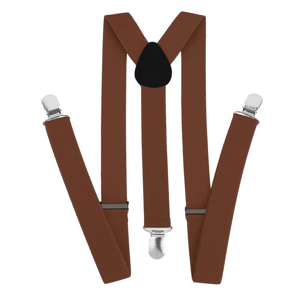 ArgoBo Unisex donna uomo Y forma elastica clip-on bretelle strap pantaloni Bretelle regolabili Bretelle per adulti 3 clip Bretella Cinturino
