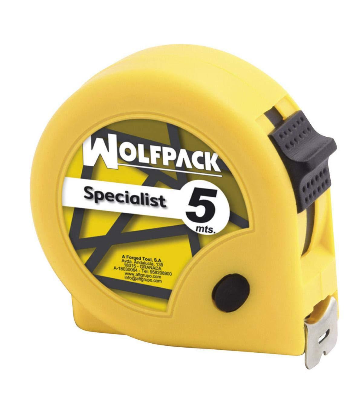 Wolfpack 2300510 Flexometro Speciallist Sin Freno 5 Metros 19 mm.