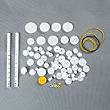 LAOMAO Pack of 75 Plastic Gears Transmission Set Zahnr Wire Robot Parts Accessories DIY