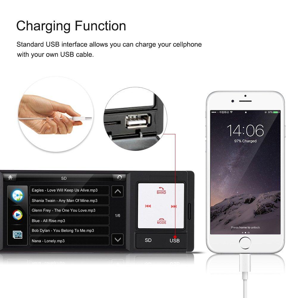 Amazon.com: Qiilu 4inch HD Digital Screen Car Radio MP5 Player FM AM ...