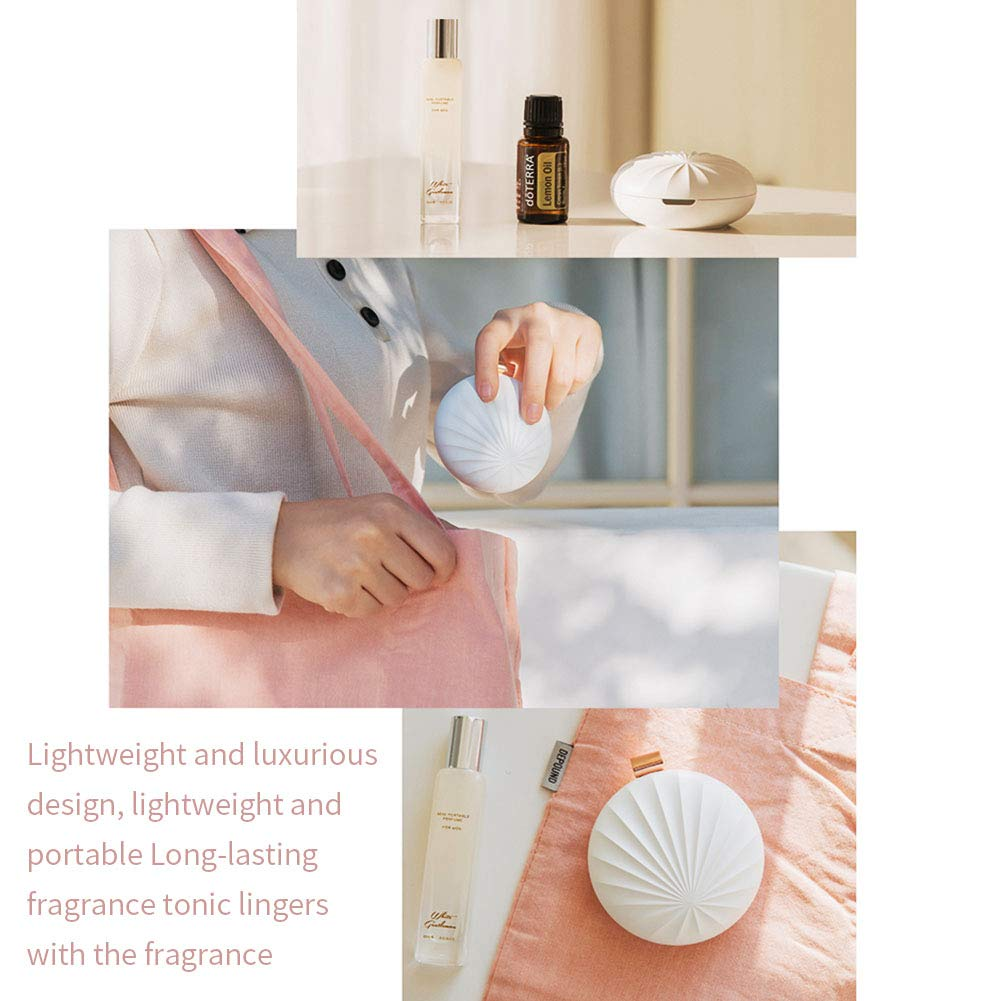 CleanDell Diffuser,Aromatherapy Ultrasonic Aroma Essential Oil Diffuser Air Scent Diffusers,Portable Minielectric Oil Burner for Home Office,Car, Outside