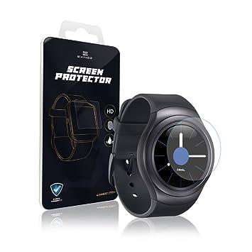 EXINOZ® Samsung Gear Protector para Pantalla 1 año de garantía de reemplazo |Lo Mejor para su Smart Watch de Samsung
