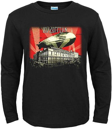 Camiseta de Manga Larga para Hombre con diseño de Led Zeppelin Negro Negro (XL: Amazon.es: Ropa y accesorios