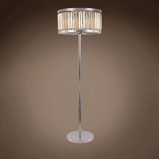 Amazon.com: Lámpara de pie de cristal de teca dorada de 71.7 ...