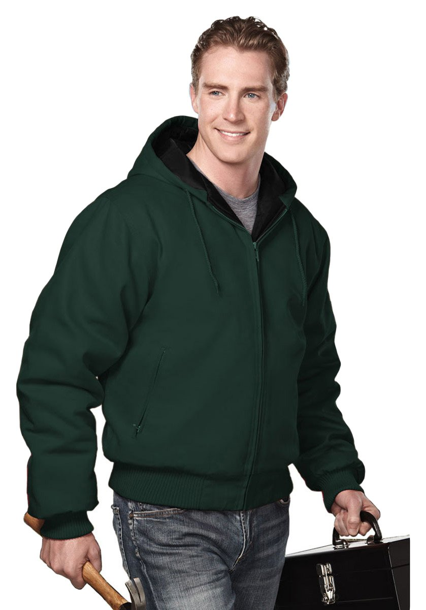 Tri-Mountain Heavyweight 12 oz. Hooded Canvas Jacket w/Polyfill Liner. 4600 Timberline