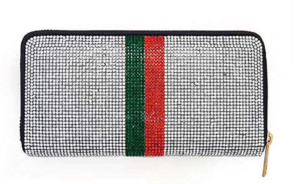 6f8803d6026e99 Gucci Inspired Crystal Rhinestone Pave Zipper Wallet at Amazon Women's  Clothing store: