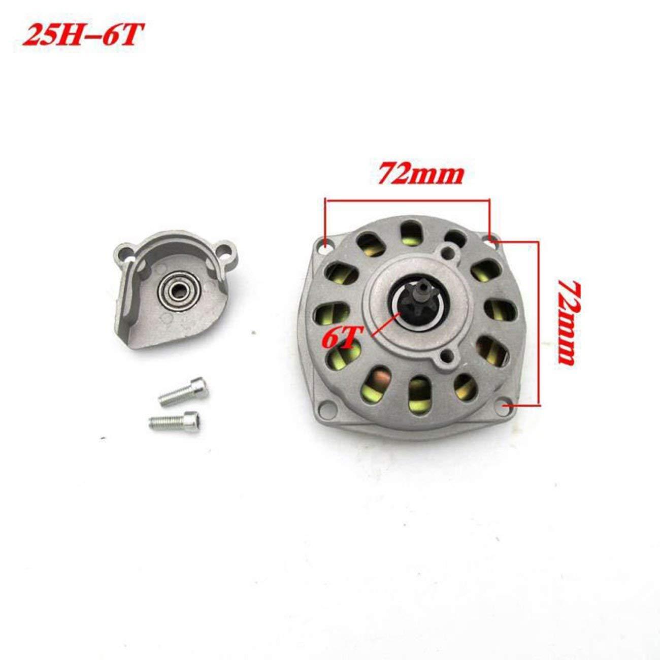 Fannty 47cc 49cc 25H 6 dientes Embrague Tambor Caja de engranajes 2 tiempos Mini bicicleta ATV Quad