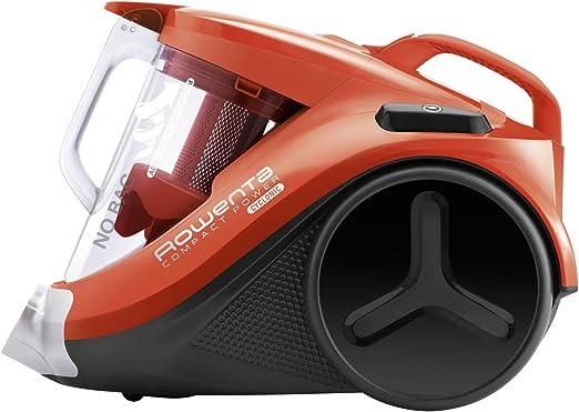 Rowenta Compact Power Cyclonic RO3724EA Aspirador sin bolsa, formato compacto, accesorios para ranuras, eficiente en todo tipo de suelo, filtro ciclónico alta eficiencia, vaciado y limpieza fácil: Amazon.es: Hogar