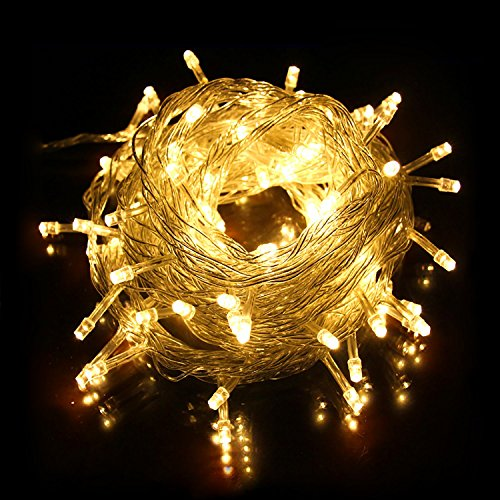 LED String Lights, BUDGET & GOOD Curtain Lights 164ft 250 LED Seasonal Lighting Warm White for Indoor, Outdoor, Christmas, Wedding, Parties, Bedroom, Patio, Garden, Backyard, Yard, Gate, Tent Decor (Budget And Decks Patios On A)