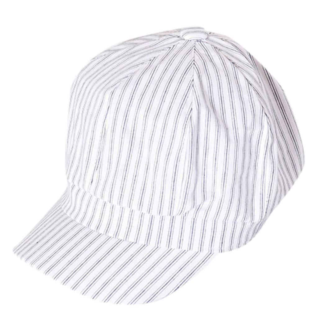 TWIFER Gorra de béisbol, Unisex Sombreros De Playa A Rayas para al ...