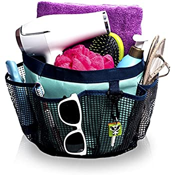 Fancii Portable Mesh Shower Caddy Tote For College Dorm, Quick Dry, 7 Large  Storage