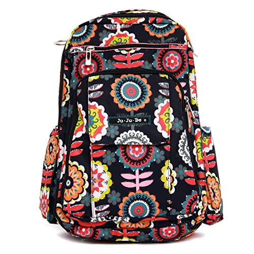 Ju-Ju-Be Classic Collection Be Right Back Backpack Diaper Bag, Dancing Dahlias