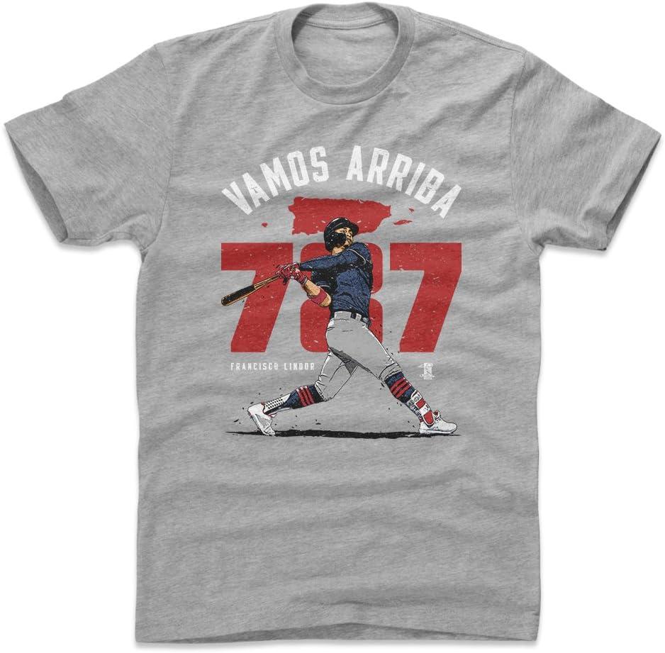 Cleveland - Camisa de béisbol para Hombre (500 Niveles), diseño de Francisco Lindor Puerto Rico Homer, Atlético, XXXL, Heather Gray: Amazon.es: Deportes y aire libre