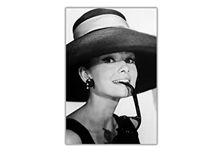 Black and White Audrey Hepburn Poster Wall Prints Movie Stars Home ...