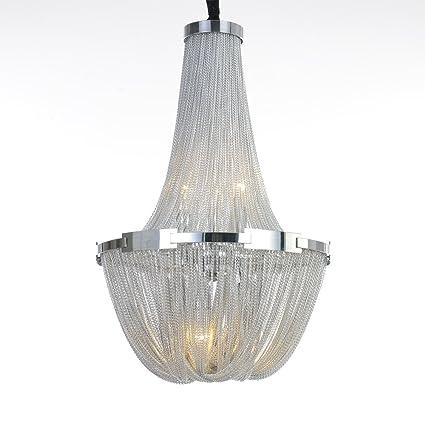 Amazon.com: DEARLAN Chandeliers Aluminum Chain Chandelier Lighting ...