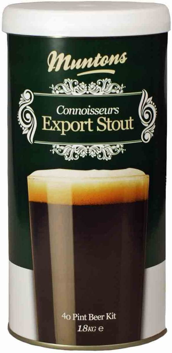 Muntons Connoisseur Export Stout - Kit de cerveza (1,8 kg)
