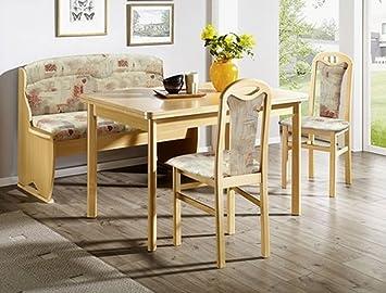 Expendio Bankgruppe Thurgau Buche Sandfarbig Bank 2x Stuhl Tisch