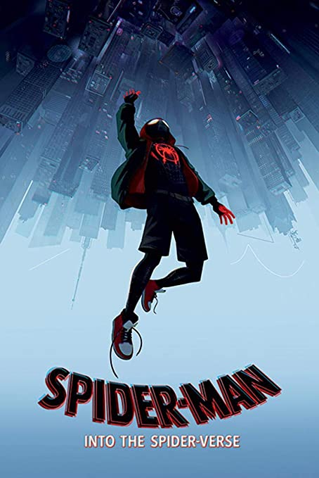 close up spider man poster into the spider verse fall 61cm x 91 5cm