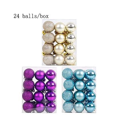 Amazon Com Richee Nl 3 Boxes Christmas Ball Ornaments