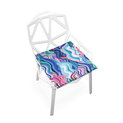 Amazon.com: Plao suave asiento de cojín Abstract colores ...