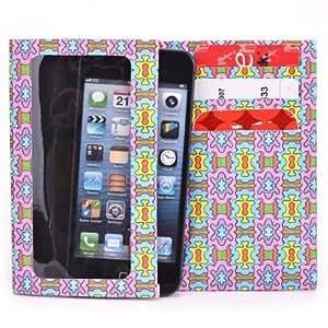 Tyvek Wallet for Smartphones - Nokia 108 Dual SIM Paper Wallet (Rainbow Burst)