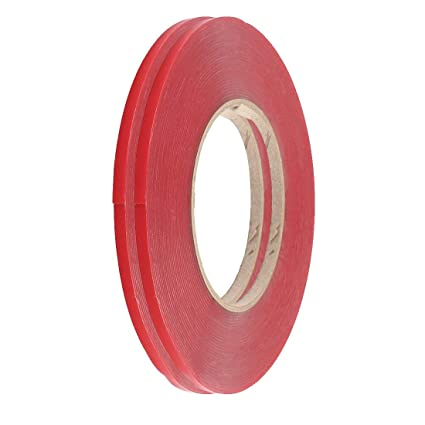 SLB Works 2Pcs 5mm Width 10M Length Double Sided Adhesive Tape Red for Cell Phone Repair