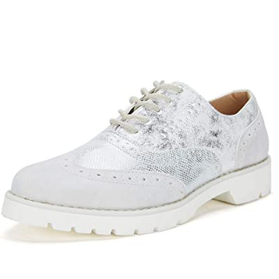 Brogue Wingtip Oxford Shoes for Women - Ladies Comfortable Derbies Shoes, Classic Round-Toe, Best Chioce for Daily Wear | Oxfords
