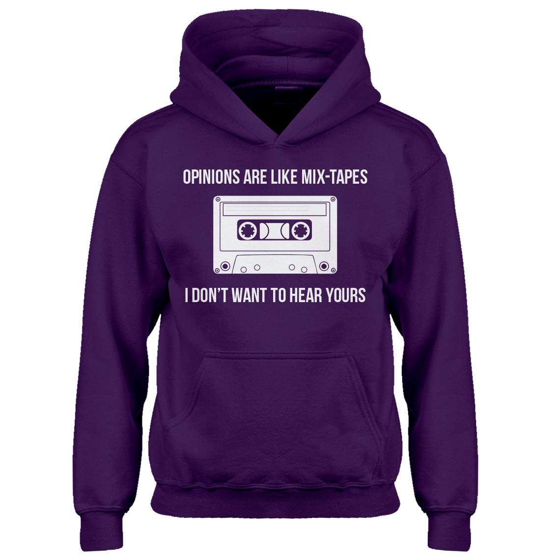 Indica Plateau Youth Opinions are Like Mixtapes Kids Hoodie