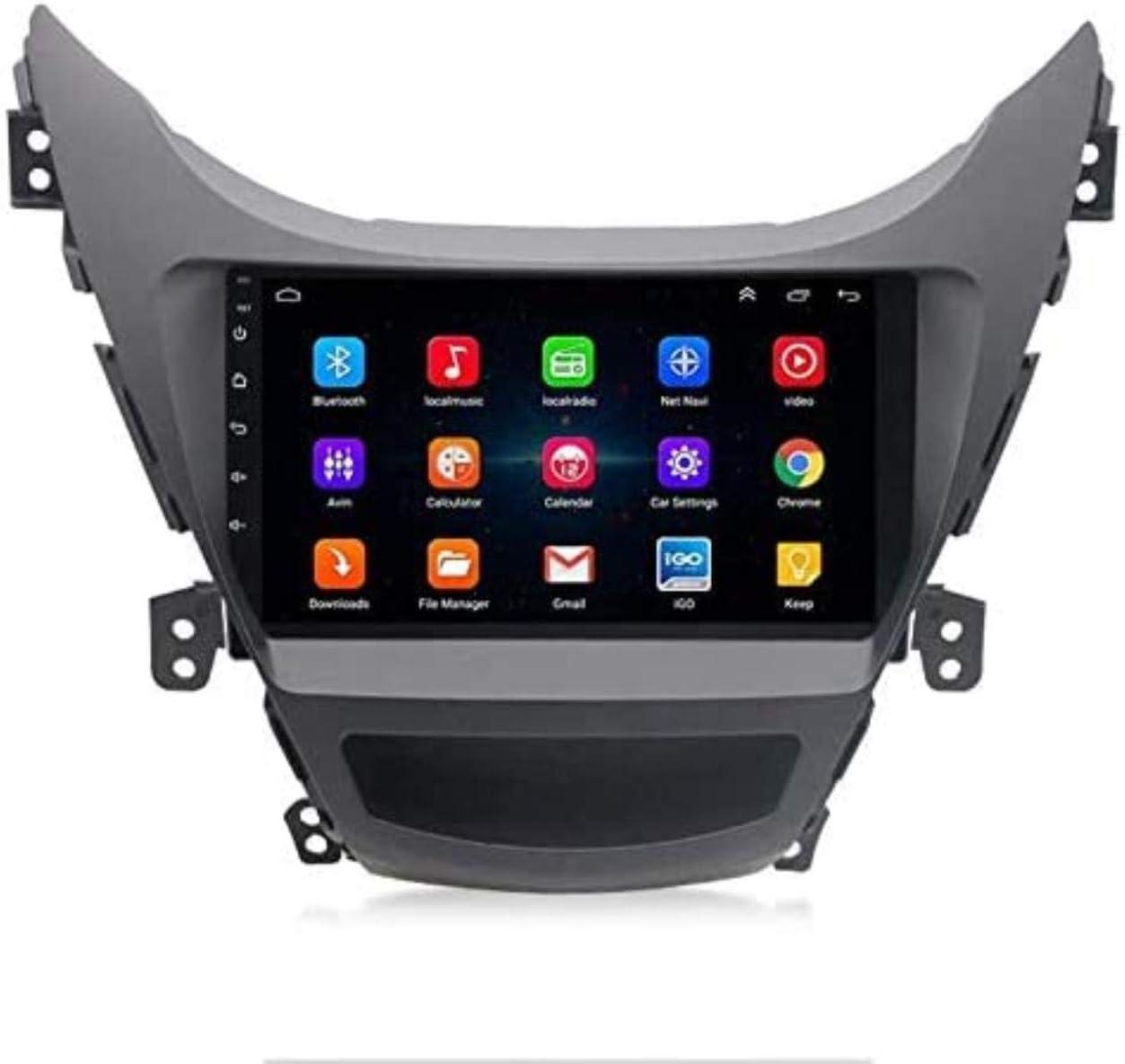 Estéreo del Coche androide, Navi para Hyundai Elantra 2011-2014 Jefe de Las Unidades USB del Sistema de navegación GPS SWC 4G WiFi BT Radio,WiFi + 2G 32G
