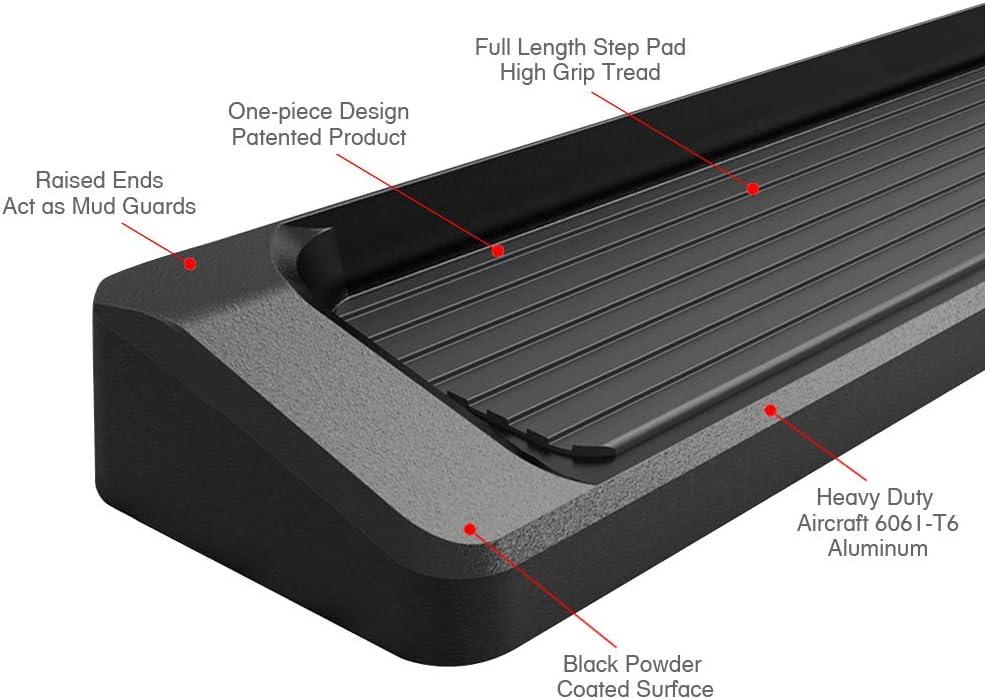 APS Premium 6in Black iBoard Running Boards Custom Fit 14-20 Dodge ProMaster 136in 159in Wheelbase