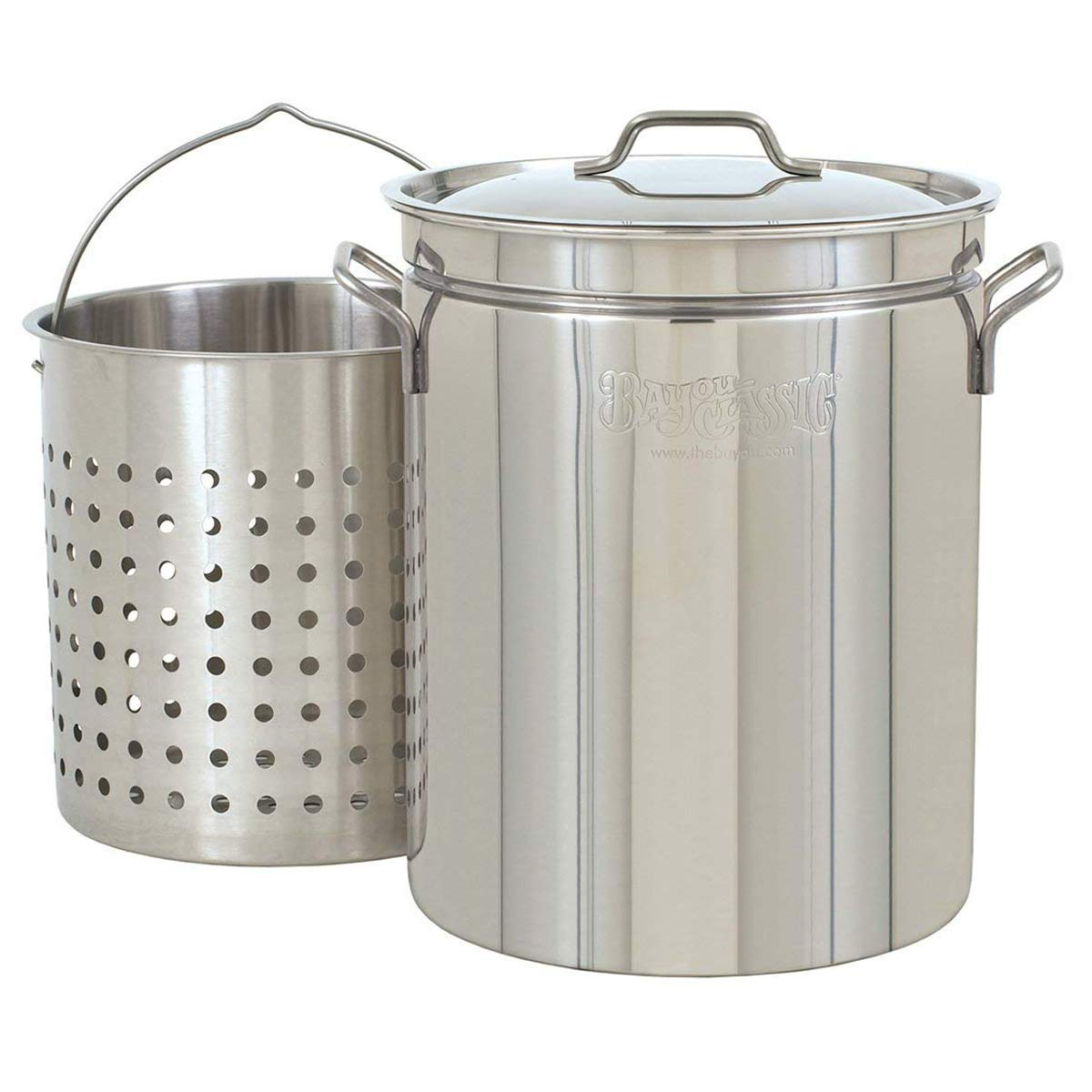 Bayou Classic 1136, 36-Qt. Stainless Fryer/Steamer with Vented Lid and Basket by Bayou Classic (Image #1)