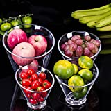 Party Cups Buffet Cup Seasoning Pot Fruit Clear Acrylic Reusable Hard Plastic Tumblers for Drink Snack Appetizer Dessert Kitchen Home Decor (7.9 * 7.3 inches)