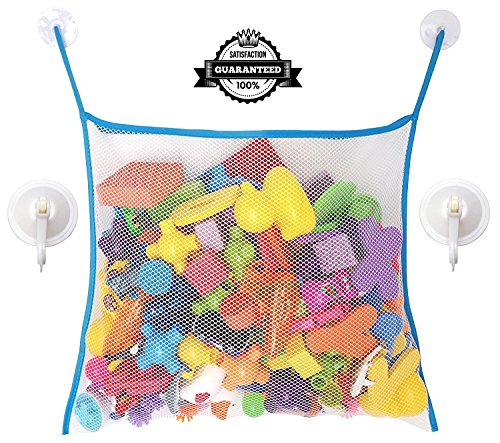 The Bath Toy Organizer Large Storage Bag with 2 Heavy Duty Suction Cup