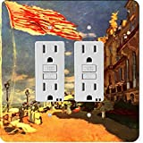 Rikki Knight 3613 Gfidouble Claude Monet Art The Hotel of Roches Noires Design Light Switch Plate
