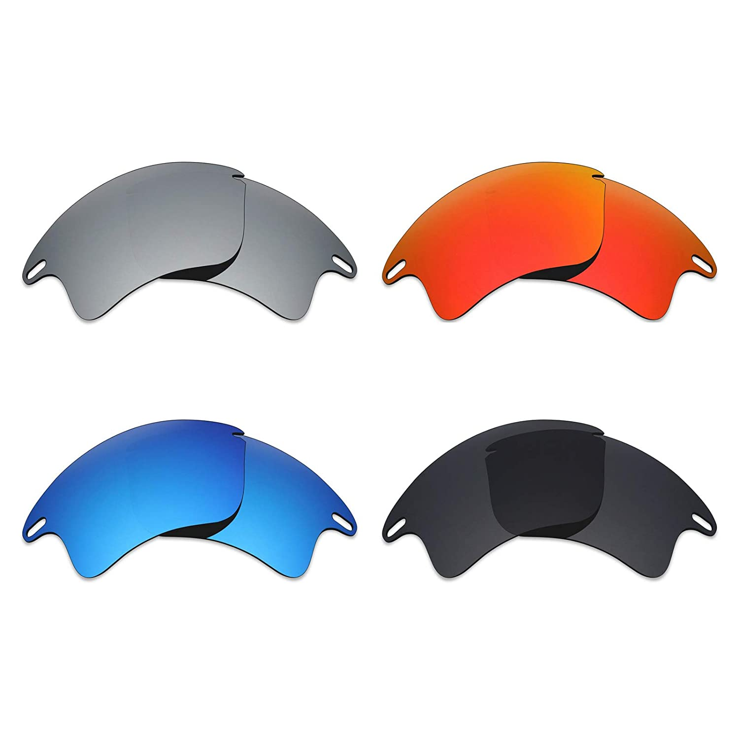 8c23284cf0 Amazon.com  Mryok 4 Pair Polarized Replacement Lenses for Oakley Fast  Jacket XL Sunglass - Stealth Black Fire Red Ice Blue Silver Titanium   Sports   ...