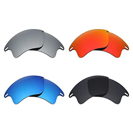 54c4f6ed8e Image Unavailable. Image not available for. Color  Mryok 4 Pair Polarized Replacement  Lenses for Oakley Fast Jacket XL Sunglass - Stealth Black