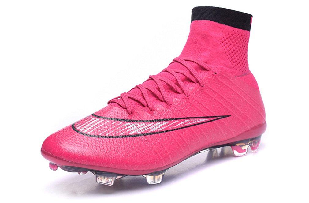 Generic Herren Mercurial superfly X 10 FG Hi Top Pink Fußball Schuhe Fußball Stiefel