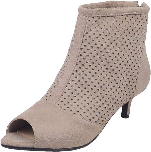 RAZAMAZA Women Peep Toe Western Ankle