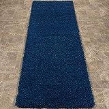 "Ottomanson shag Collection Area Rug, 2'7"" x 8', Navy"