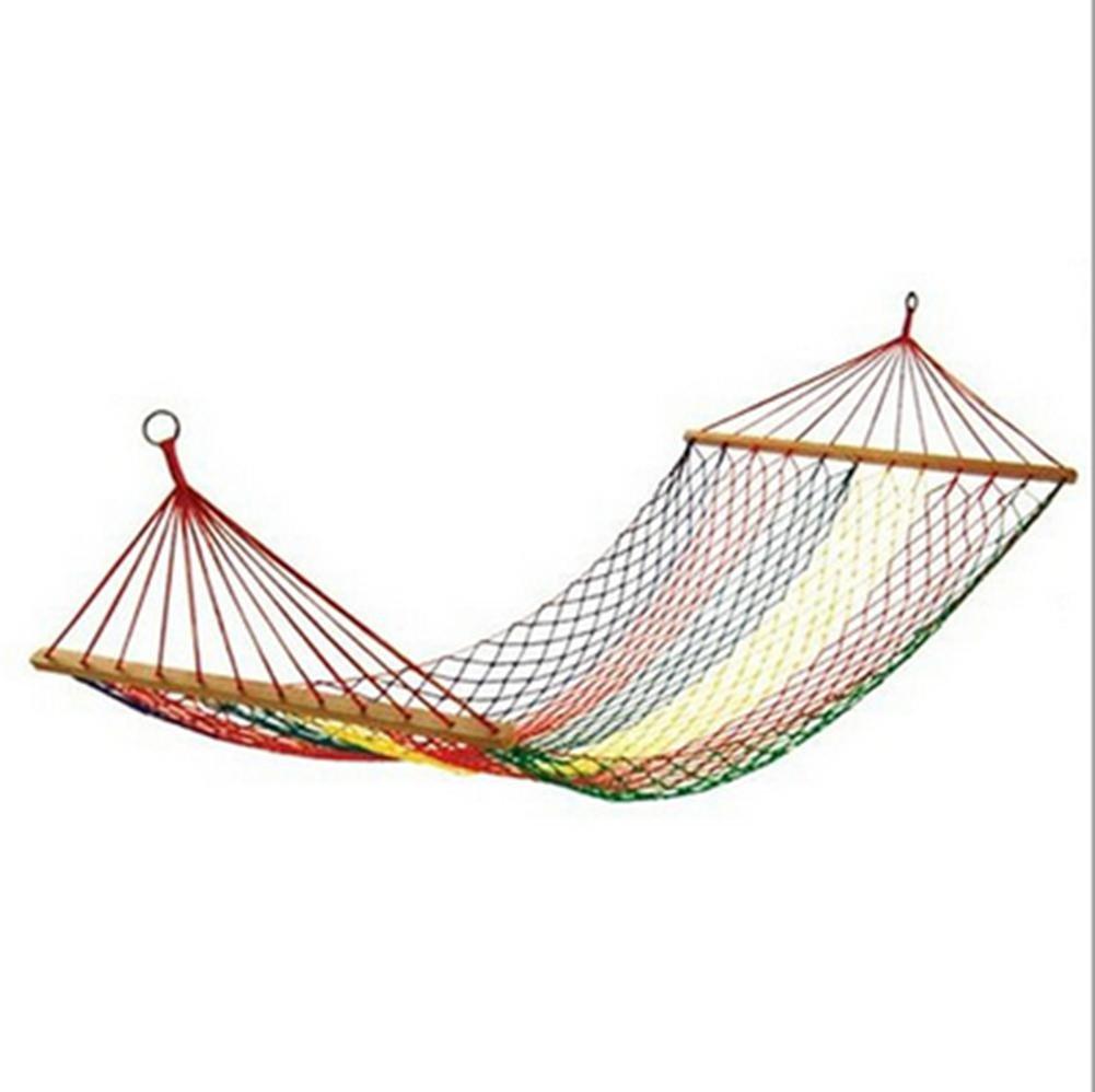 DZW Outdoor Hängematte einzigen Netztasche Hängematte mit Bar Hängematte Farbe Net Hängematte zum Senden gebunden Seil