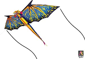 "AmaZing Kites 3D Nylon Dragon Kite with 80"" Wingspan (6 ft 8 in)"