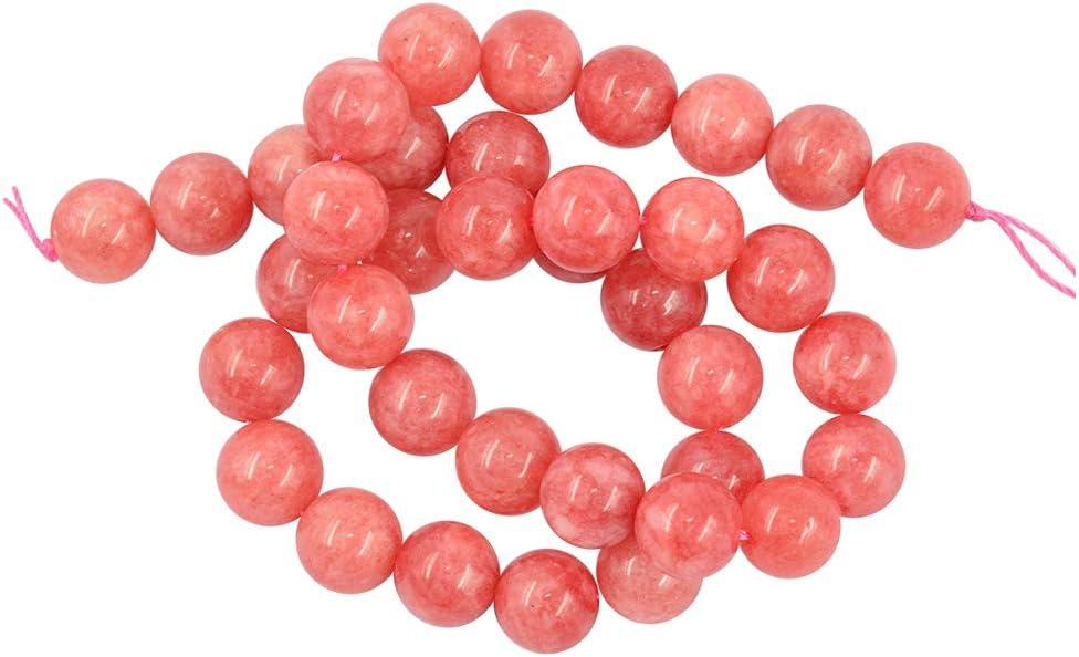 P Prettyia Color de Rosado Cuentas de Accesorio Joyas , Sueltos Abalorios Fabricación Pulsera ,barazalete - Rosado, 10 mm