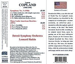 Aaron Copland: Symphony No. 3, Three Latin American Sketches