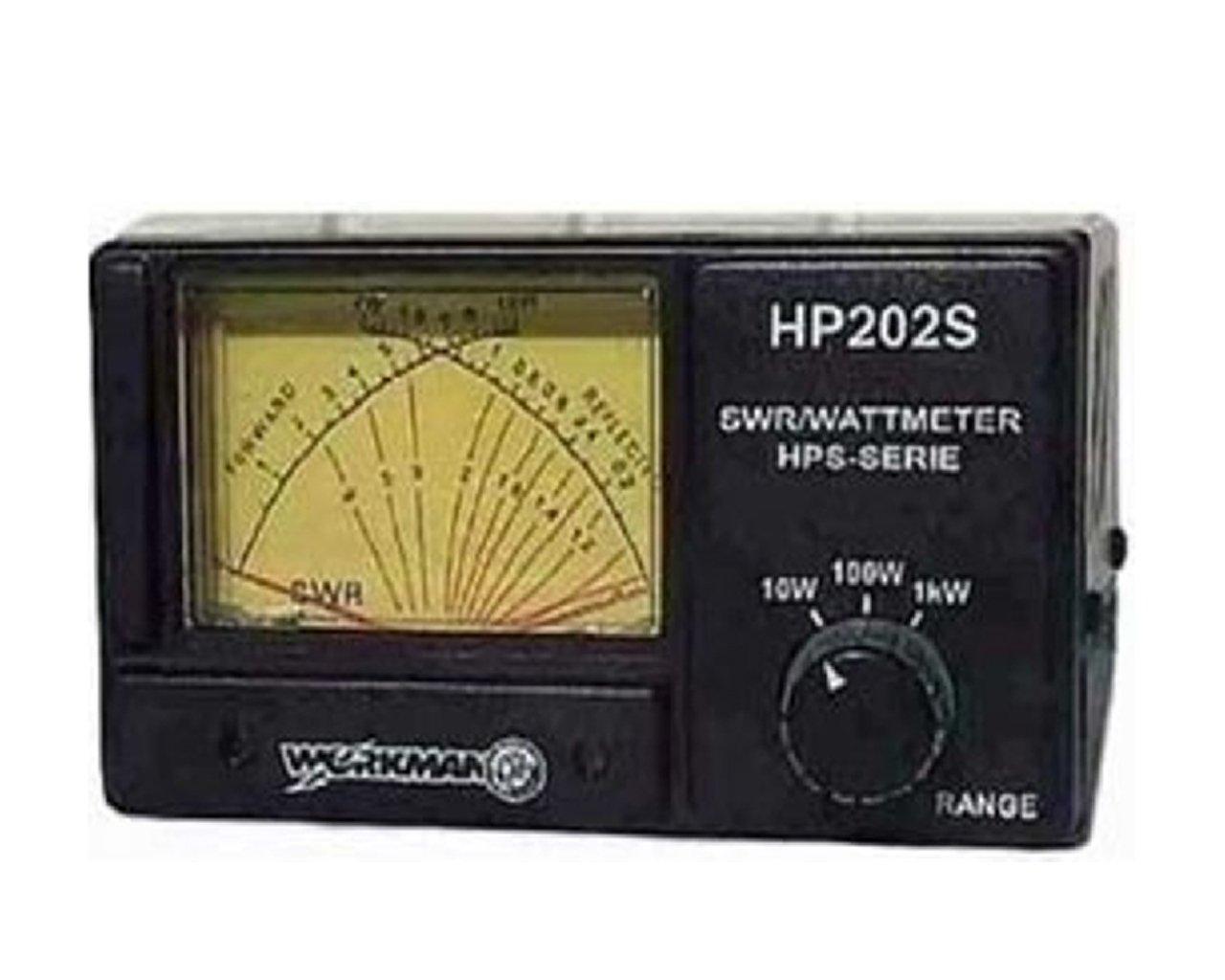 WORKMAN HP202S CROSS NEEDLE SWR/WATT METER, 1000 WATT POWER METER
