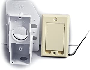 Supervalve Central Vacuum Cleaner Inlet Valve with 110 Receptacle, Beige